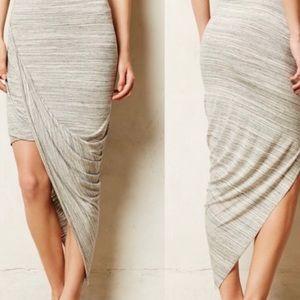 Anthropologie Dolan Oblique Asymmetrical Skirt L